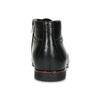 Kožená pánská černá kotníčková obuv conhpol, černá, 894-6600 - 15