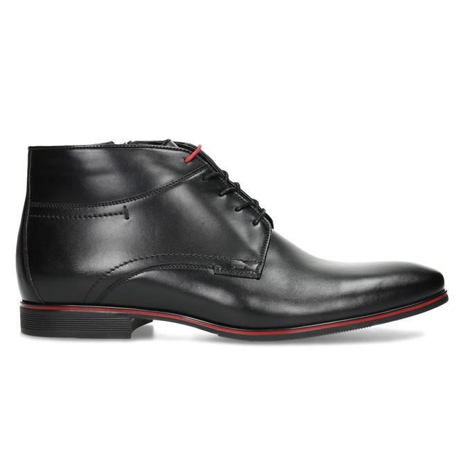 Kožená pánská černá kotníčková obuv conhpol, černá, 894-6600 - 19