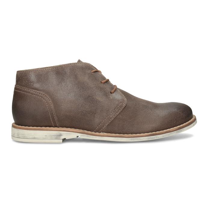 Hnědá pánská kožená kotníčková obuv bata, hnědá, 826-3606 - 19