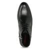 Pánská kožená kotníčková obuv se strukturou conhpol, černá, 894-6605 - 17