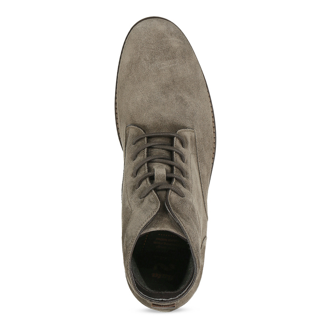 Béžová pánská kožená kotníčková obuv flexible, béžová, 823-8701 - 17