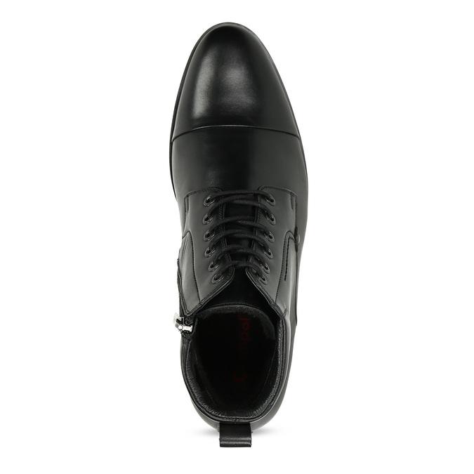 Kotníčková pánská černá kožená obuv conhpol, černá, 894-6604 - 17