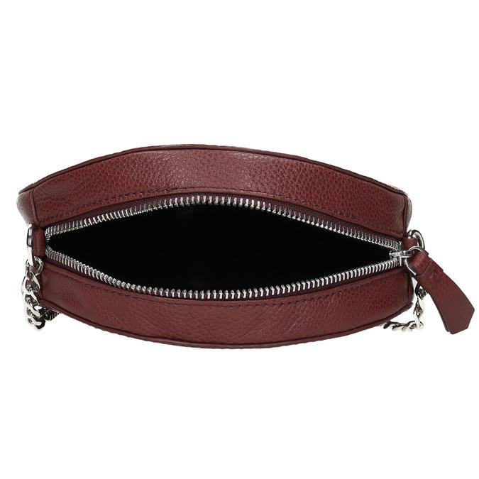 Dámská kulatá crossbody kabelka bata, červená, 964-5628 - 15