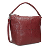 Červená dámská kožená Hobo kabelka bata, červená, 964-5233 - 13
