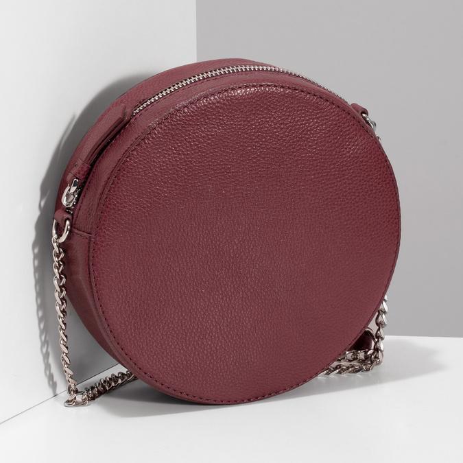 Dámská kulatá crossbody kabelka bata, červená, 964-5628 - 17
