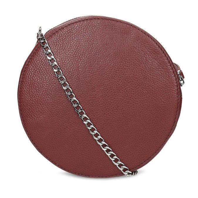 Dámská kulatá crossbody kabelka bata, červená, 964-5628 - 16