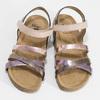 Dětské kožené sandály na suchý zip mini-b, zlatá, 466-8611 - 16