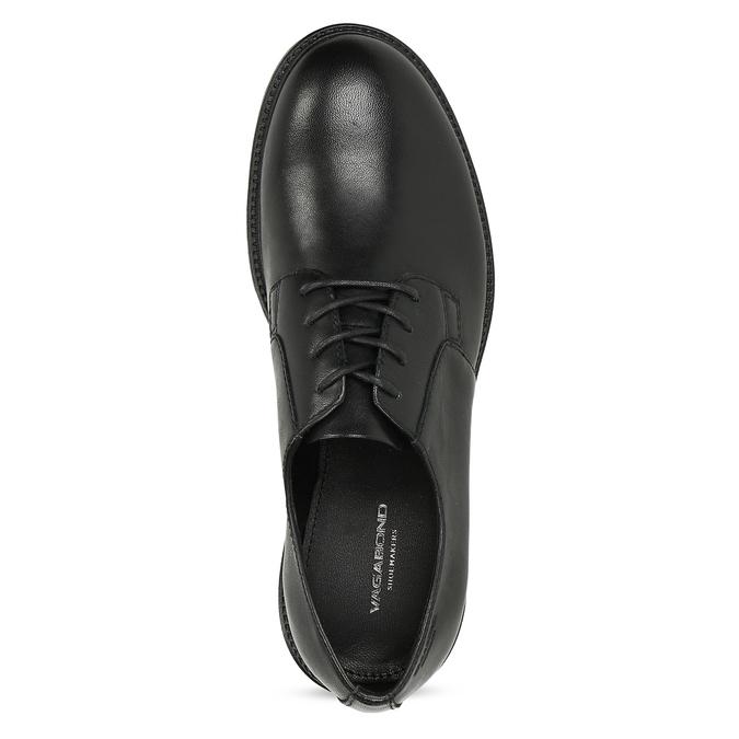 Černé dámské kožené polobotky vagabond, černá, 524-6108 - 17