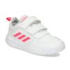 Bílé dětské tenisky s růžovými detaily adidas, bílá, 101-1291 - 13