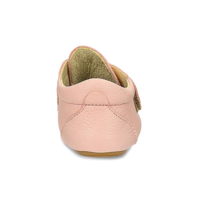 Růžová dětská kožená kotníčková obuv froddo, růžová, 124-5605 - 15