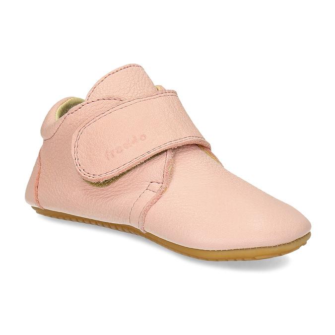 Růžová dětská kožená kotníčková obuv froddo, růžová, 124-5605 - 13
