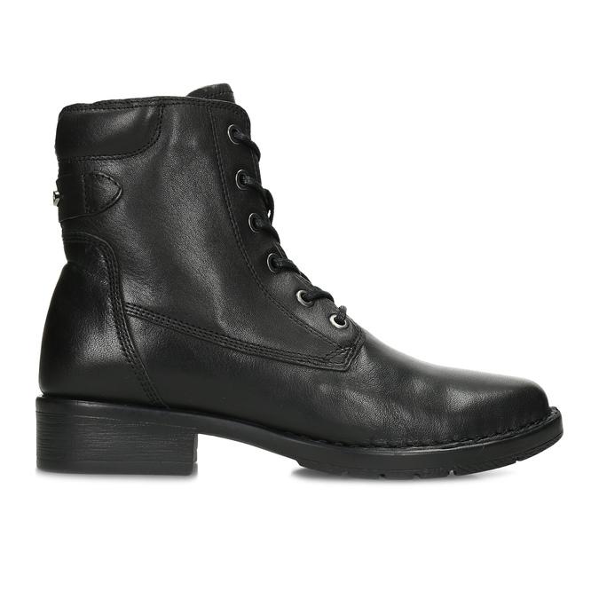 Černá kožená zimní obuv se zateplením camel-active, černá, 696-6592 - 19