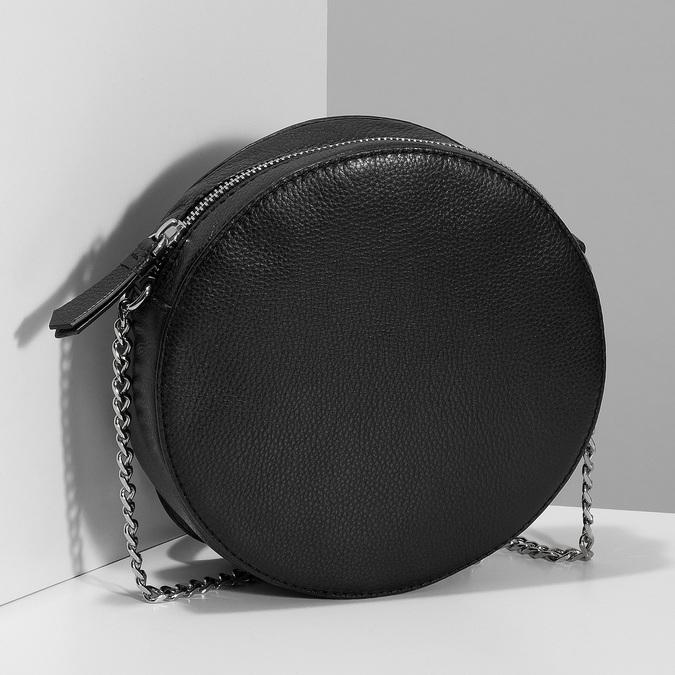 Kulatá černá Crossbody kabelka s řetízkem bata, černá, 964-4628 - 17