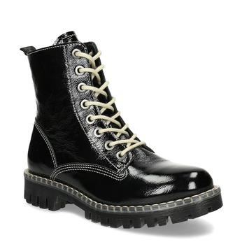 Černá dámská kožená kotníčková obuv bata-125th-anniversary, černá, 536-6604 - 13