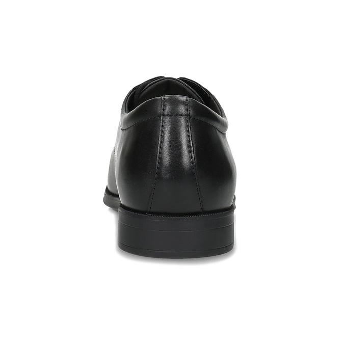Černé pánské kožené Derby polobotky geox, černá, 826-6366 - 15