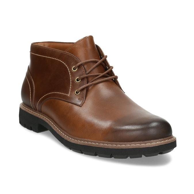 Pánská kožená hnědá kotníčková obuv clarks, hnědá, 846-4830 - 13