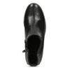Dámské černé kožené Chelsea kozačky gabor, černá, 594-6218 - 17