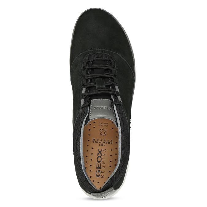 Pánské černé tenisky z broušené kůže geox, černá, 846-6815 - 17