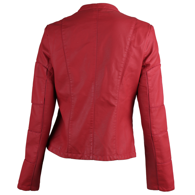 Červená dámská bunda s prošitím bata, červená, 971-5247 - 26