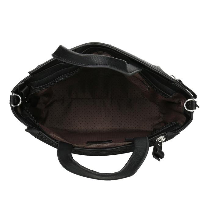 Černá dámská kabelka se zipem gabor, černá, 961-6241 - 15
