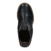 Tmavě modrá kožená dámská Chelsea obuv ten-points, modrá, 596-9557 - 17