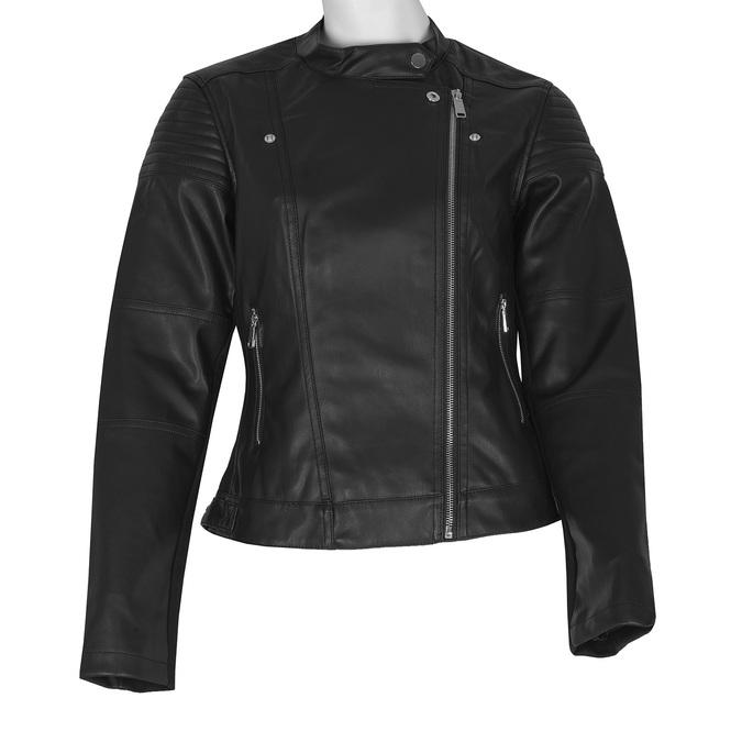 Černá dámská bunda ve stylu křiváku bata, černá, 971-6144 - 13