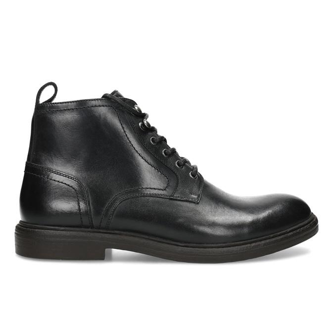 Pánská černá kožená kotníčková obuv bata, černá, 824-6612 - 19