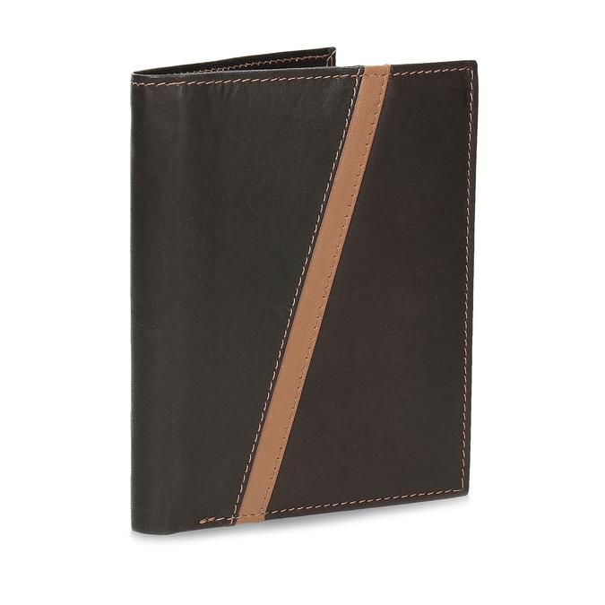Pánská hnědá kožená peněženka bata, hnědá, 944-4625 - 13