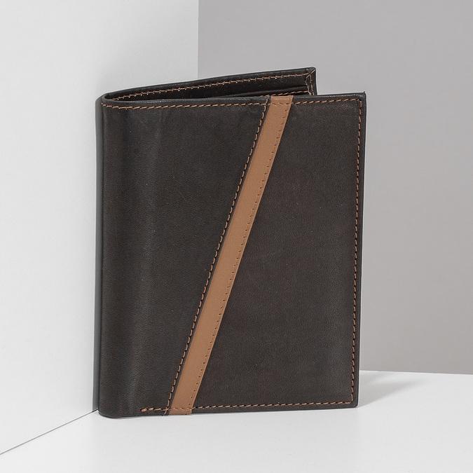 Pánská hnědá kožená peněženka bata, hnědá, 944-4625 - 17