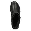 Kožené černé kotníčkové kozačky s přezkou bata, černá, 594-6683 - 17