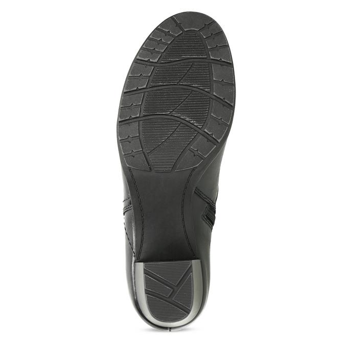 Černé kožené kotníčkové kozačky bata, černá, 694-6604 - 18