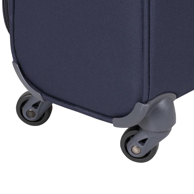 Modrý cestovní textilní kufr samsonite, modrá, 960-9037 - 16