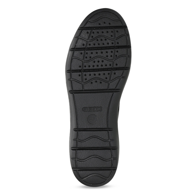 Černá pánská kotníčková kožená obuv geox, černá, 826-6352 - 18