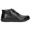 Černá pánská kotníčková kožená obuv geox, černá, 826-6352 - 19