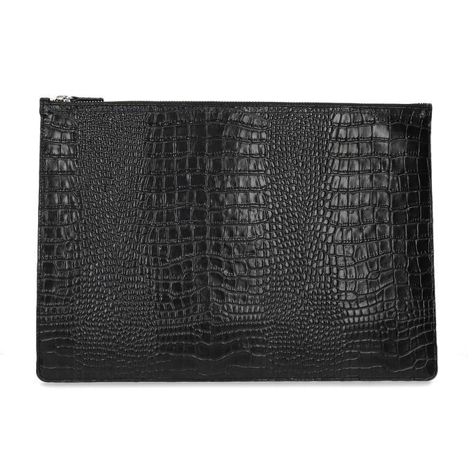 Černé kožené dámské psaníčko se strukturou vagabond, černá, 966-6020 - 26