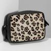 Kožená Crossbody kabelka s leopardím vzorem bata, béžová, 964-0629 - 17