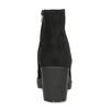 Kotníčkové černé kozačky z broušené kůže bata, černá, 796-6612 - 15