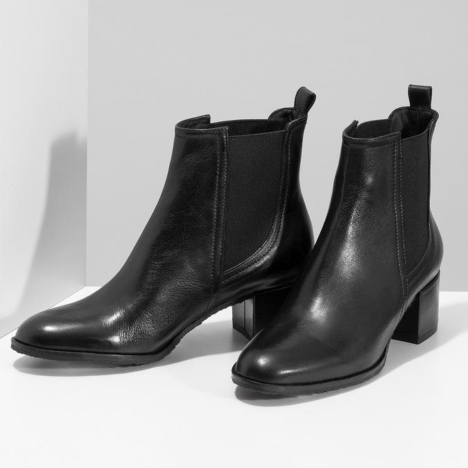 Dámská černá kožená Chelsea obuv bata, černá, 694-6624 - 16