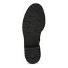 Dámské černé kožené kozačky šíře G gabor, černá, 594-6214 - 18