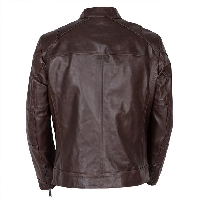 Pánská hnědá kožená bunda bata, hnědá, 974-4178 - 26