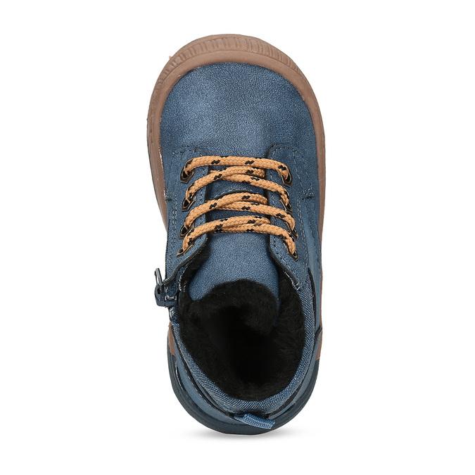 Modrá dětská kotníčková obuv se zateplením bubblegummers, modrá, 191-9603 - 17