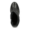 Kožené černé kozačky na stabilním podpatku bata, černá, 794-6618 - 17