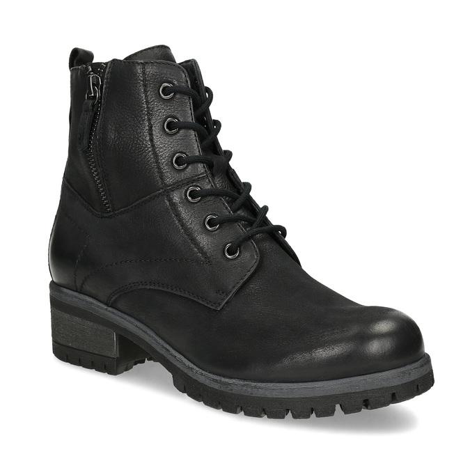 Kožená dámská kotníčková zimní obuv bata, černá, 696-6603 - 13