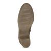 Hnědé kožené kozačky na stabilním podpatku bata, hnědá, 794-4618 - 18