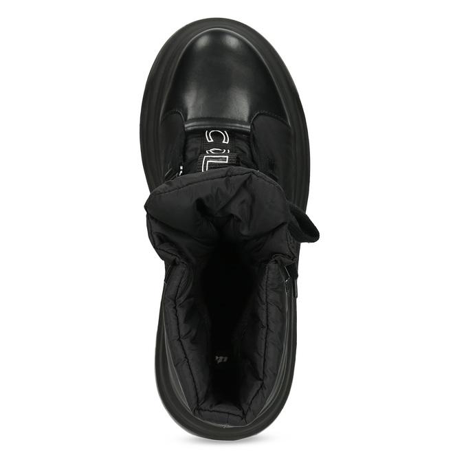 Dámská černá zimní obuv s masivní podešví bata, černá, 591-6625 - 17
