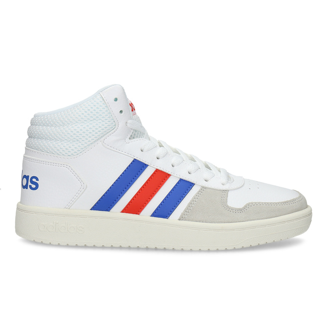 Pánské bílé kotníčkové tenisky adidas, bílá, 801-1327 - 19