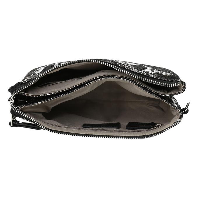 Dámská Crossbody kabelka s hadím vzorem gabor, stříbrná, 969-1103 - 15
