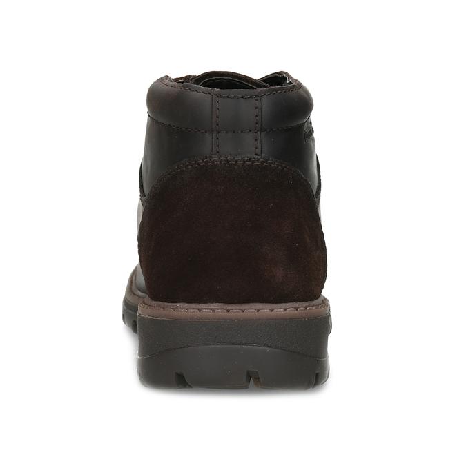 Hnědá pánská kožená kotníčková obuv camel-active, hnědá, 896-4596 - 15