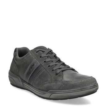 Kožené pánské ležérní tenisky bata, šedá, 846-2714 - 13