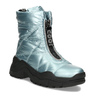 Dámské modré metalické sněhule se zipem bata, modrá, 591-9650 - 13